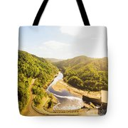 Hydropower Valley River Tote Bag