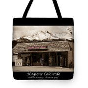 Hygiene Colorado Bw Fine Art Photography Print Tote Bag