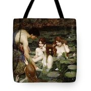 Hylas And The Nymphs John William Waterhouse Tote Bag