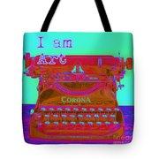 I Am Art Typewriter Tote Bag