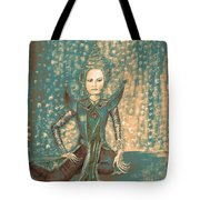I Am Siamese In Teal Tote Bag