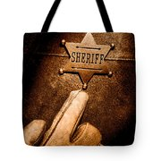 I Am The Law - Sepia Tote Bag