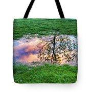 I Can See China - Hole In The Grass Tote Bag