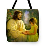 I Feel My Savior's Love Tote Bag by Greg Olsen