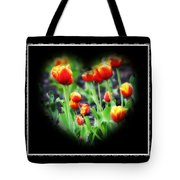 I Heart Tulips - Black Background Tote Bag