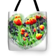I Heart Tulips Tote Bag