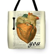 I Heart You Tote Bag