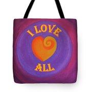 I Love All Tote Bag