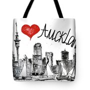 I Love Auckland  Tote Bag