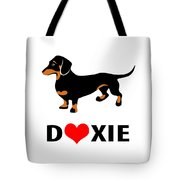 I Love My Doxie Tote Bag