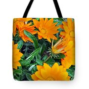 I Love Orange Flowers Tote Bag