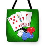 I Love Poker Tote Bag