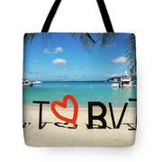 I Love The Bvi Tote Bag