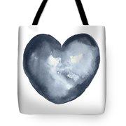 Blue Heart, I Love You Quote Men Women Gift Idea Heart Minimalist Picture Wall Decor Clipart  Tote Bag