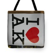 I Luv Alaska  Logo Tote Bag