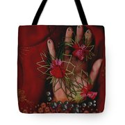 I Reach Love Peace In Life With My Hand Tote Bag