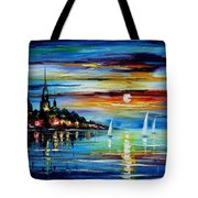 I Saw A Dream - Palette Knife Oil Painting On Canvas By Leonid Afremov Tote Bag