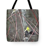 I See You Two Birds In Flight Tote Bag