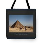 I Travel The World Cairo Tote Bag