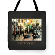 I Travel The World Venice Tote Bag