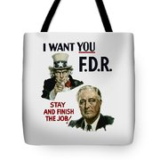 I Want You Fdr  Tote Bag