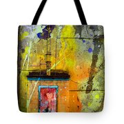 I Wear My Heart On The The Door Tote Bag