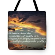 I Will Give You Hope Tote Bag