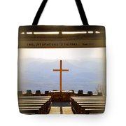 I Will Lift My Eyes To The Hills Psalm 121 1 Vertical 2 Tote Bag