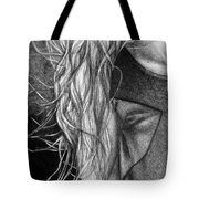 I Will Remain Still Dreaming, 2017, 50-70cm, Graphite Crayon On Paper Tote Bag