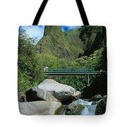 Iao Needle And Creek Tote Bag