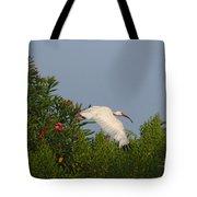 Ibis In The Oleander Tote Bag