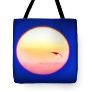 Icarus Flying Into The Sun Tote Bag