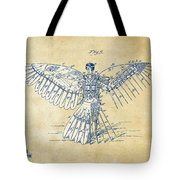Icarus Human Flight Patent Artwork - Vintage Tote Bag