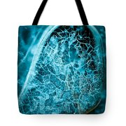 Ice Abstract Deep Blue Tote Bag