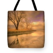 Ice And Light Tote Bag