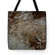 Ice And Rock Abstract Tote Bag