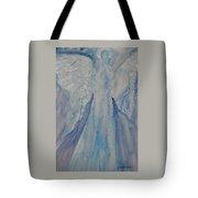 Ice Blue Angel Tote Bag