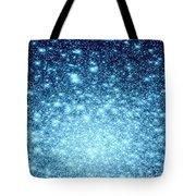 Ice Blue Galaxy Stars Tote Bag