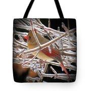 Ice Cage - Female Cardinal Tote Bag