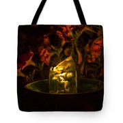 Ice Candle With Petunias Tote Bag