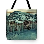 Ice Cave Of Stones Tote Bag