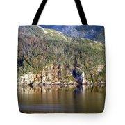 Ice Cliff In Autumn Tote Bag