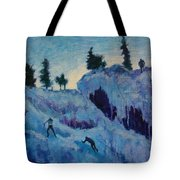 Ice Climbing Tote Bag