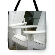 Ice-coated Chairs Tote Bag