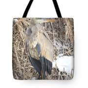 Ice Cold Heron Tote Bag