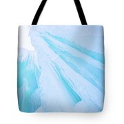 Ice Covered Mountains Good For Ice Climbing Tote Bag