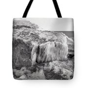 Ice Covered Rocks  Tote Bag