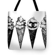 Ice Cream Black ,chanel Tote Bag