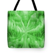 Ice Crystal Angel - Green Tote Bag