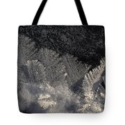 Ice Crystals Form Feather Shapes On Ice Tote Bag